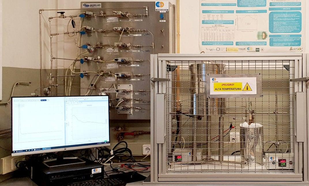 Figure 3. Experimental set-up for electrochemical sensors testing