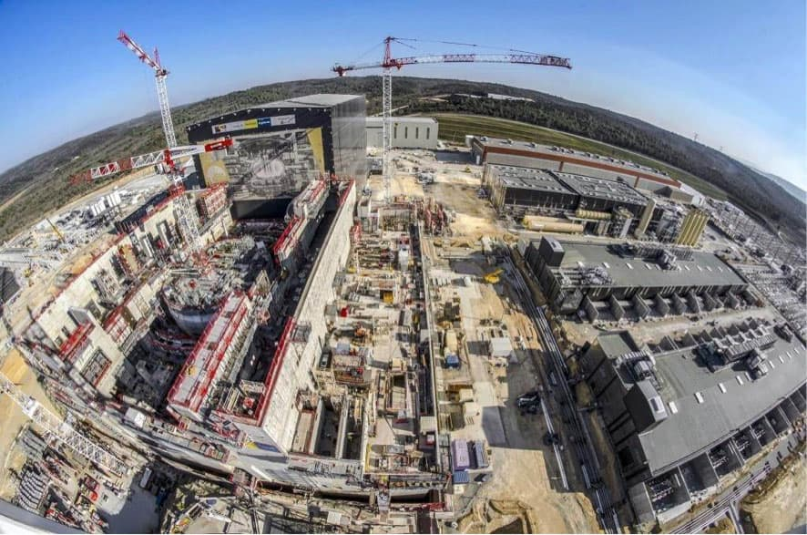 View of the ITER construction area